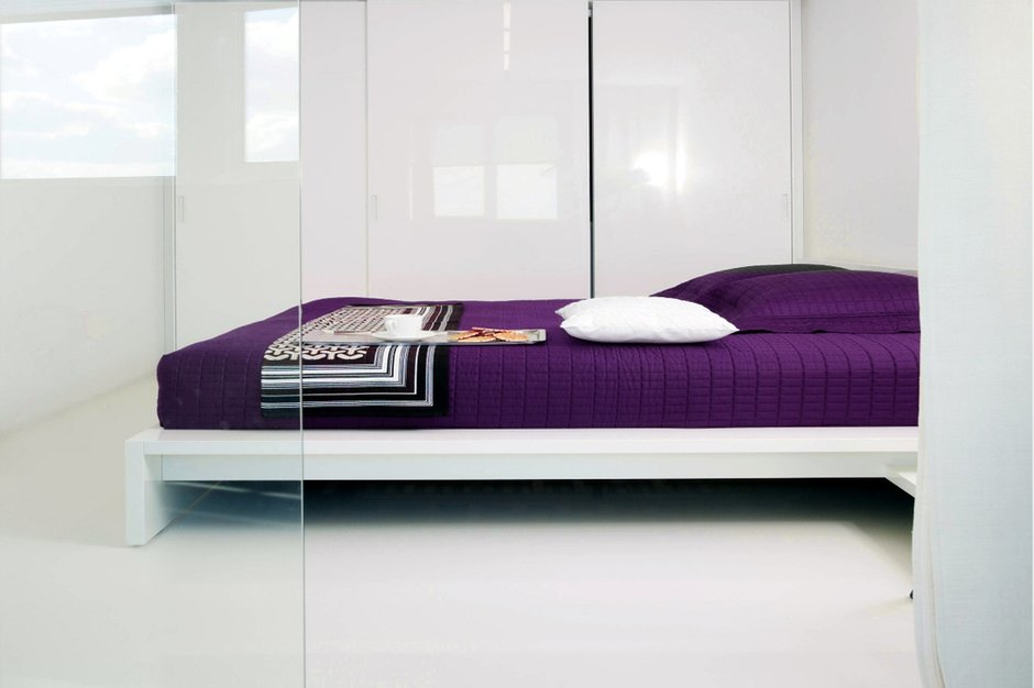 Фотография: Спальня в стиле Современный, Интерьер комнат, Цвет в интерьере, Белый, Минимализм, Проект недели – фото на INMYROOM