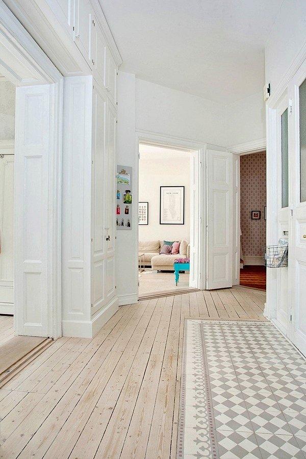 Фотография:  в стиле Скандинавский, Квартира, Швеция, Цвет в интерьере, Дома и квартиры, Белый, Шебби-шик – фото на INMYROOM