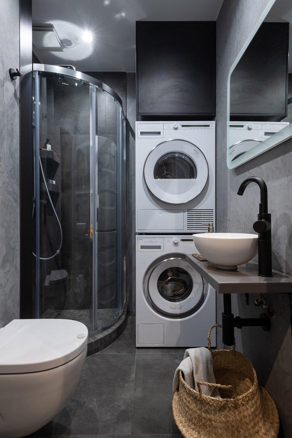Фотография: Ванная в стиле Современный, Малогабаритная квартира, Квартира, Студия, Проект недели, Москва, Хрущевка, 1 комната, Huge Studio – фото на INMYROOM