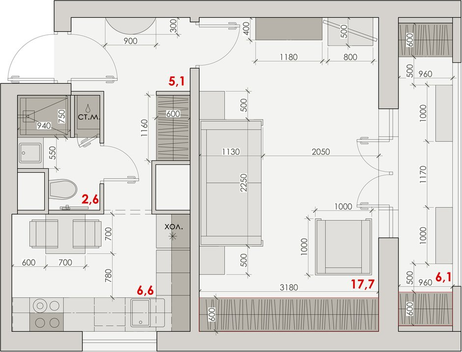 Фотография: Планировки в стиле , Малогабаритная квартира, Квартира, Проект недели, Наталья Сытенкова – фото на INMYROOM