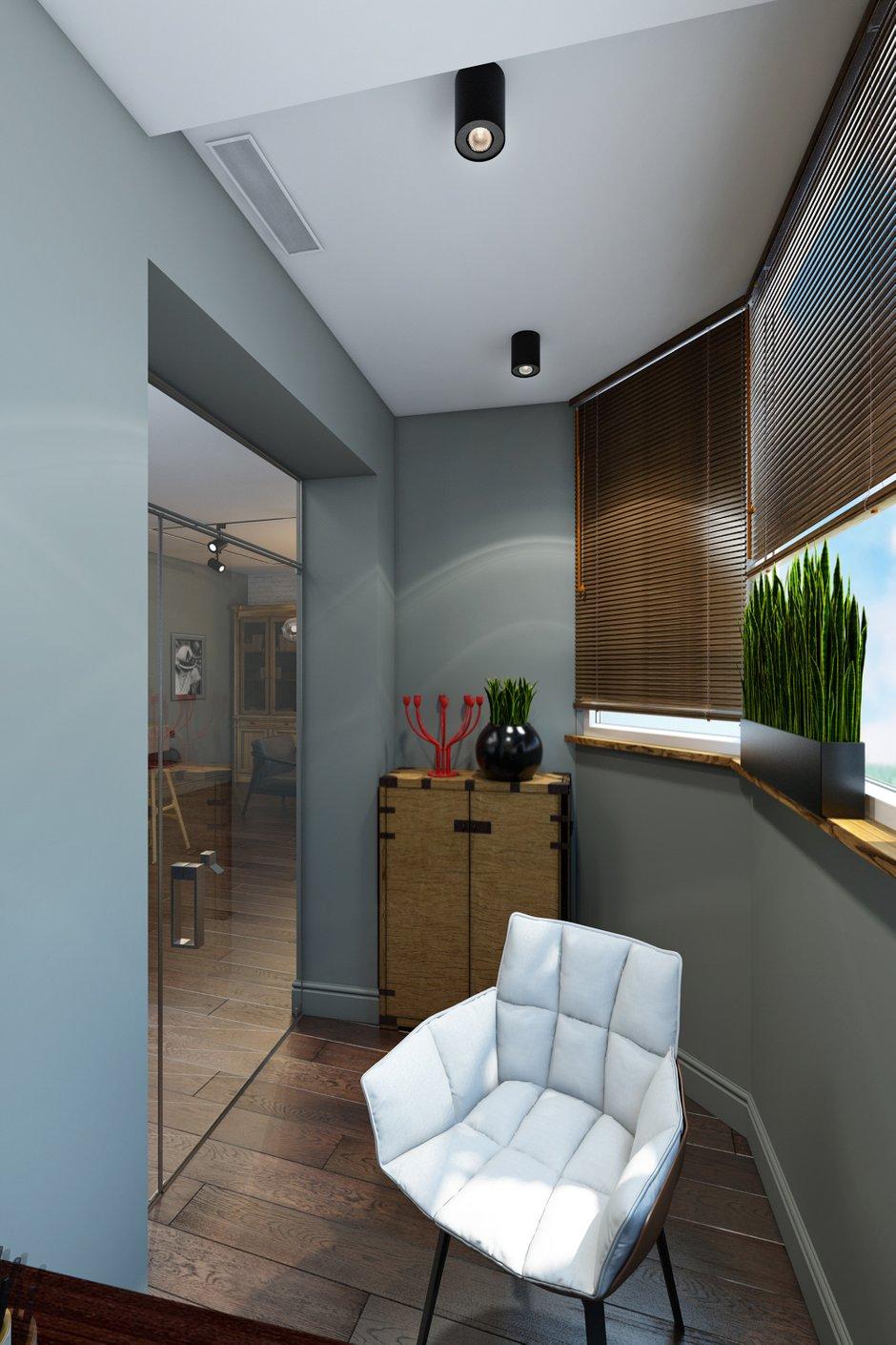 Фотография: Балкон в стиле Современный, Лофт, Квартира, Проект недели, Москва, Диана Мальцева, новостройка, Монолитный дом, 2 комнаты, 60-90 метров – фото на INMYROOM