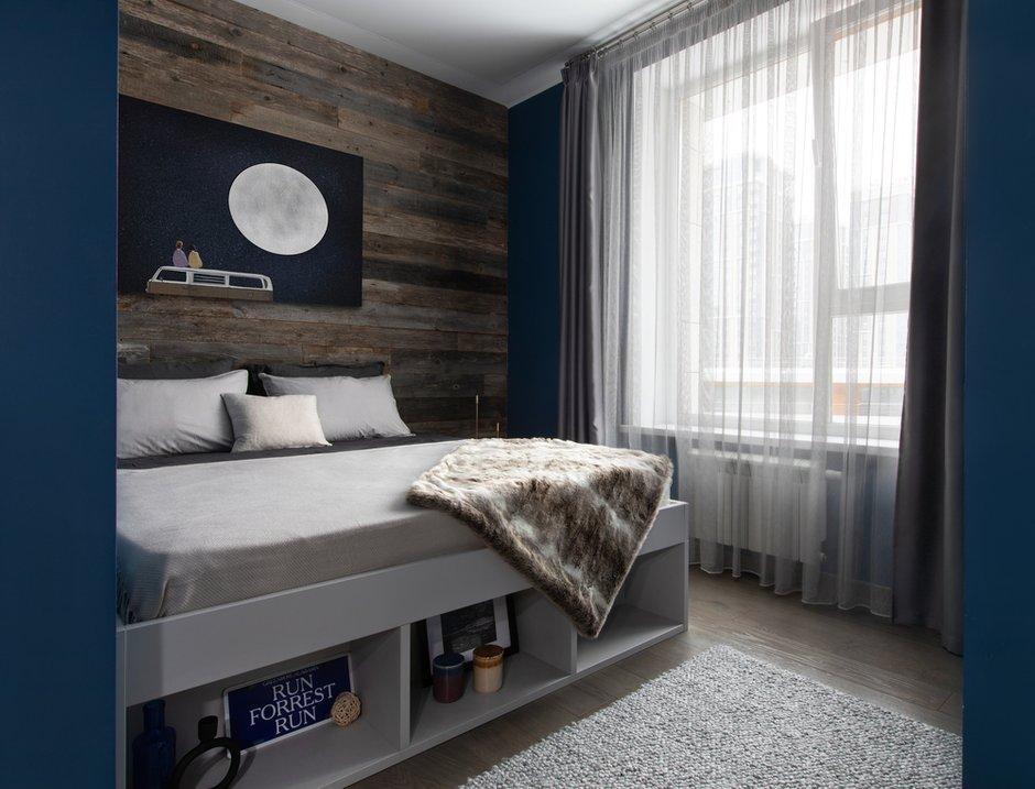 Фотография: Спальня в стиле Современный, Квартира, Студия, Проект недели, Москва, 40-60 метров, Анна Никитина – фото на INMYROOM