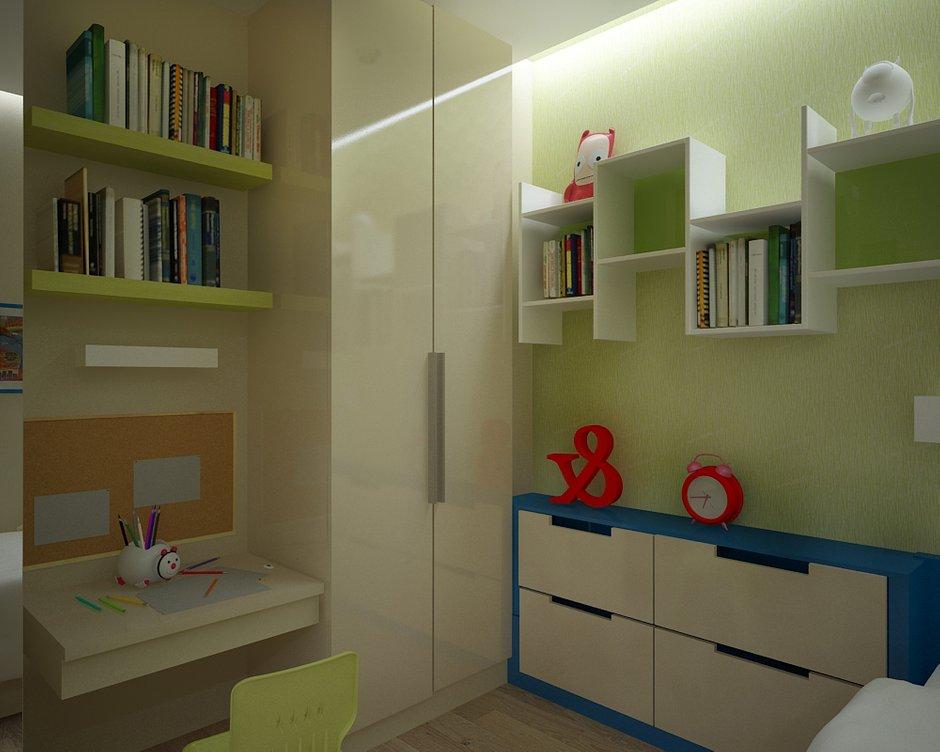 Фотография: Детская в стиле Современный, Малогабаритная квартира, Квартира, Дома и квартиры, Проект недели, Москва – фото на INMYROOM