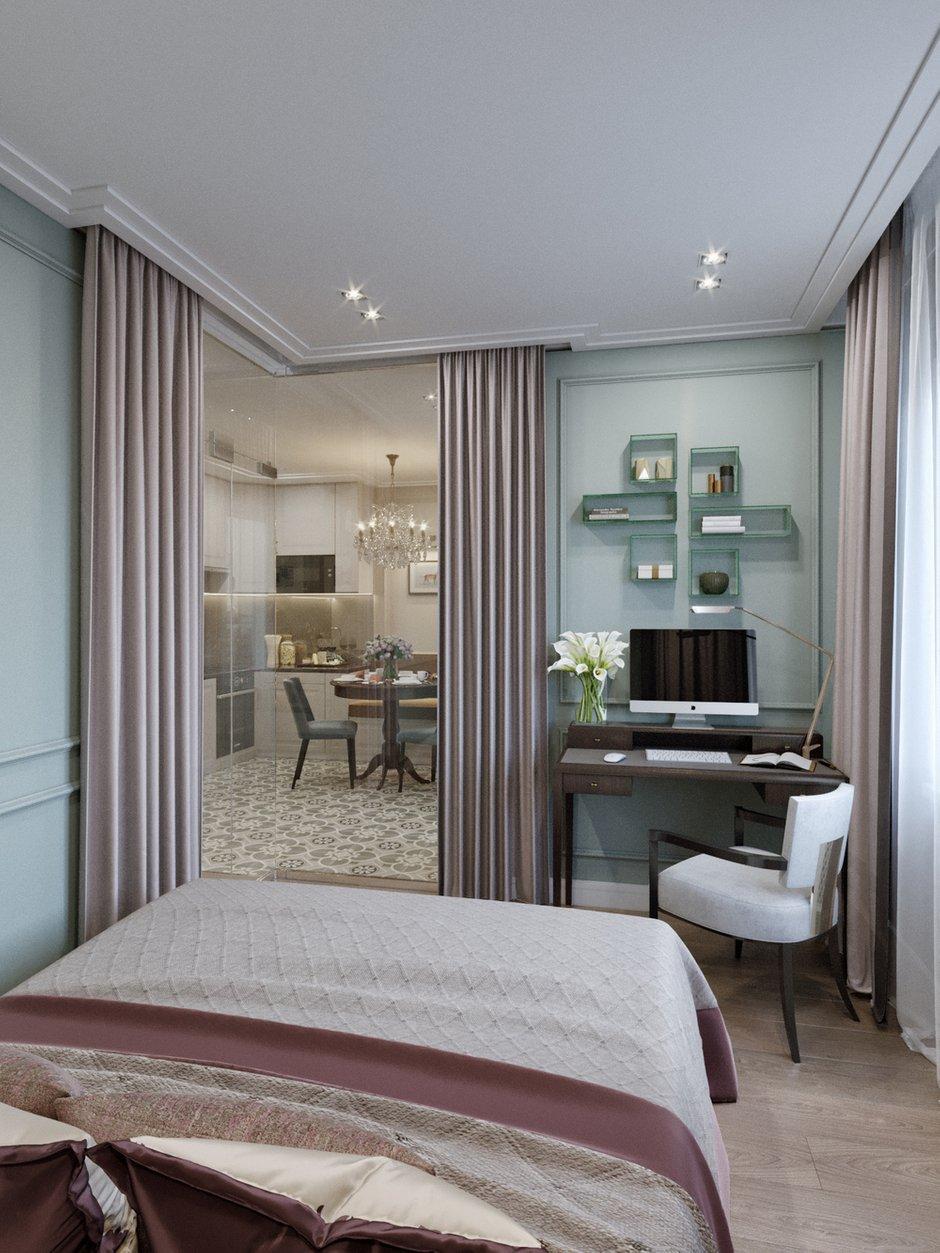 Фотография: Спальня в стиле Современный, Классический, Проект недели, 1 комната, 40-60 метров – фото на INMYROOM
