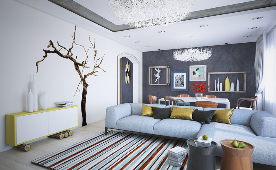 Фотография: Гостиная в стиле Скандинавский, Современный, Квартира, Дома и квартиры – фото на INMYROOM