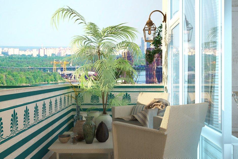 Фотография: Балкон, Терраса в стиле Восточный, Квартира, Дома и квартиры, Проект недели, Средиземноморский – фото на INMYROOM