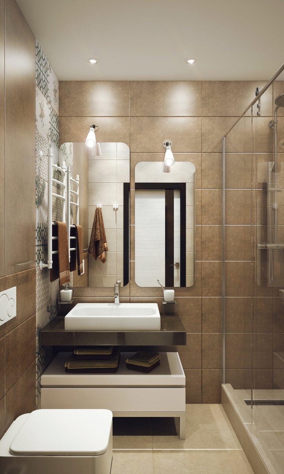 Фотография: Ванная в стиле Современный, Малогабаритная квартира, Квартира, Дома и квартиры, Проект недели – фото на INMYROOM