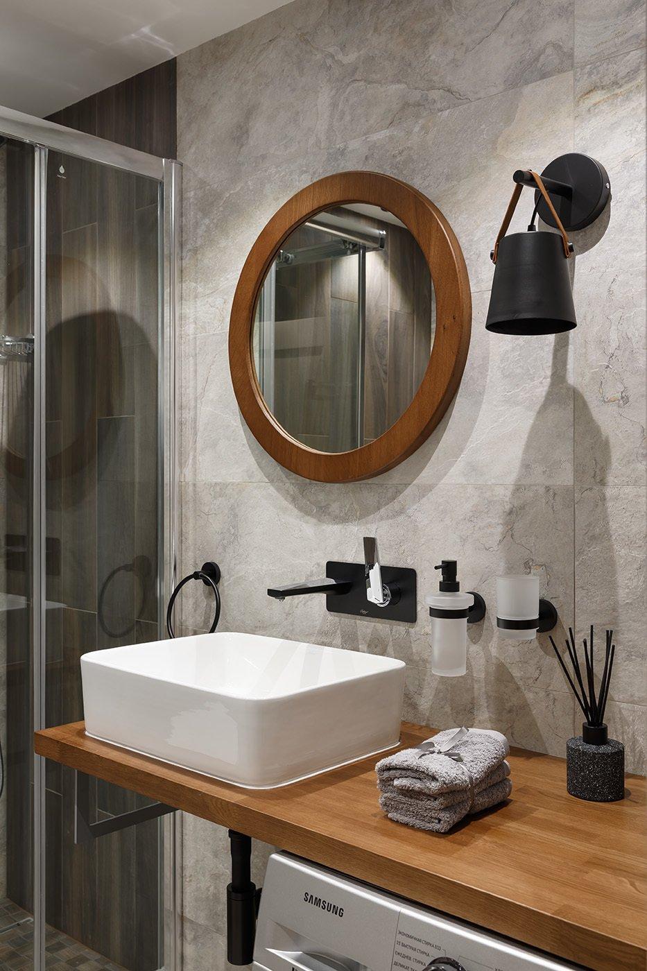 Фотография: Ванная в стиле Современный, Квартира, Проект недели, 1 комната, 40-60 метров – фото на INMYROOM