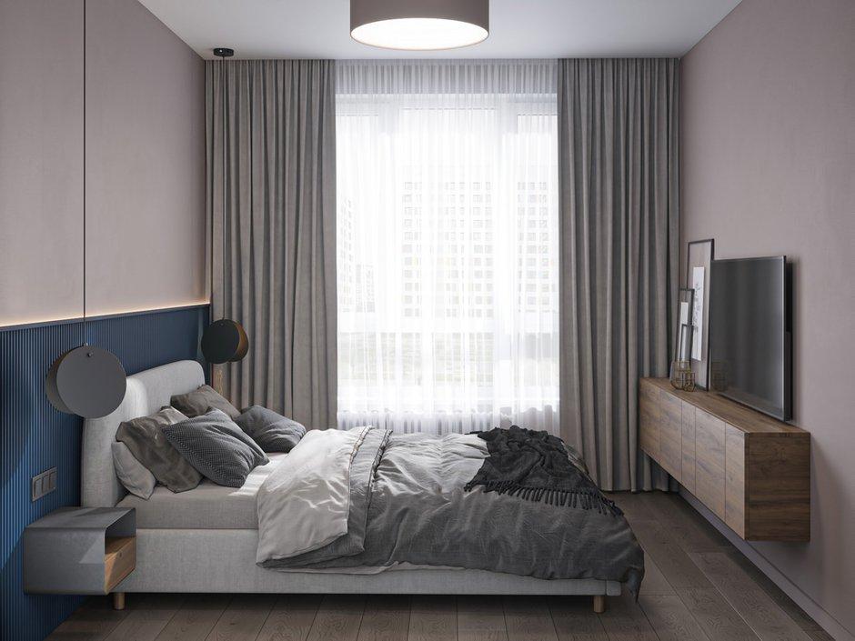 Фотография: Спальня в стиле Современный, Квартира, Проект недели, Москва, 3 комнаты, 60-90 метров, Более 90 метров, Бюро «Общая Площадь» – фото на INMYROOM
