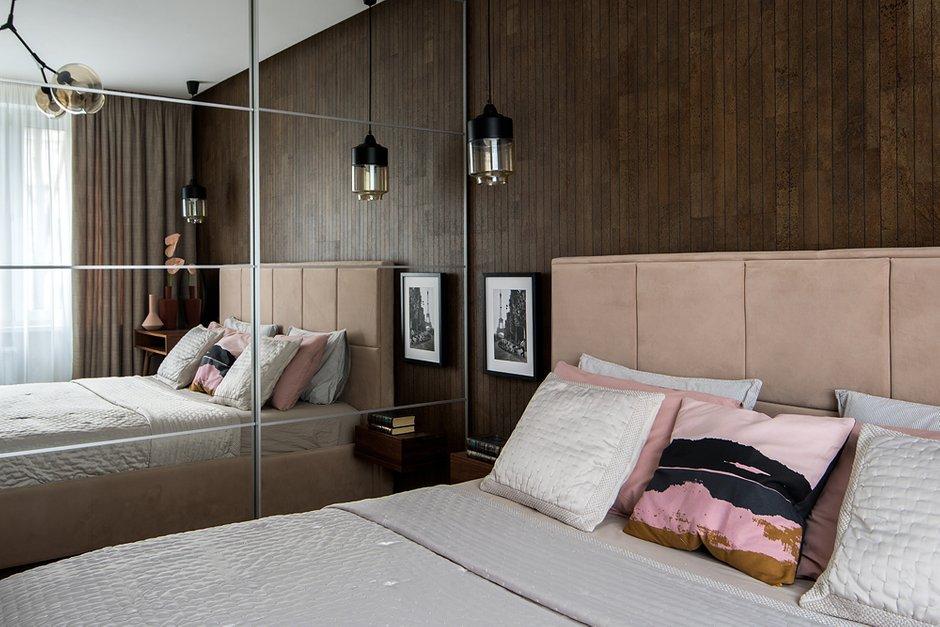 Фотография: Спальня в стиле Современный, Квартира, Проект недели, Москва, Панельный дом, 3 комнаты, 40-60 метров, 60-90 метров, Юлия Савонова – фото на INMYROOM