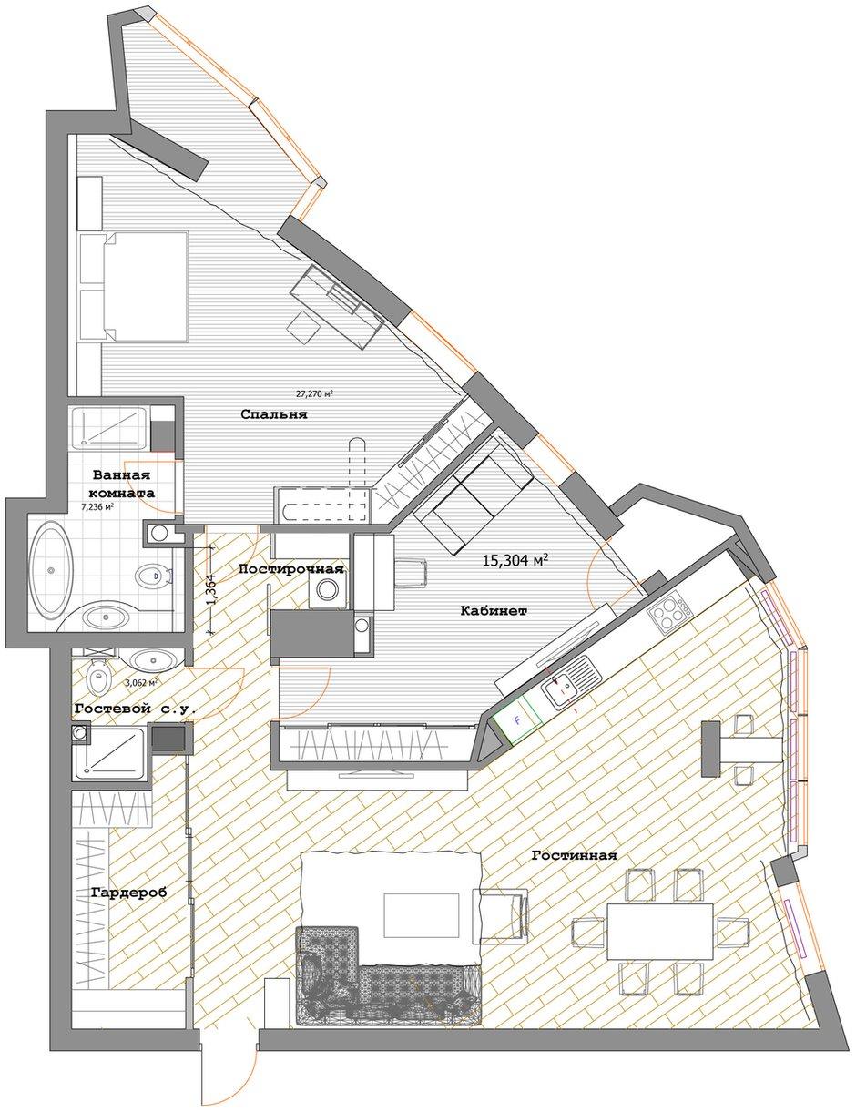 Фотография: Планировки в стиле , Квартира, Дома и квартиры, Ар-деко – фото на INMYROOM