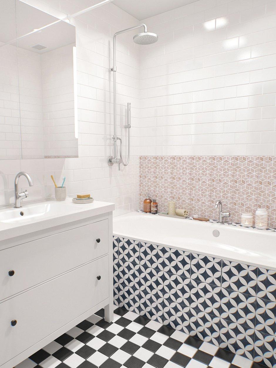 Фотография: Ванная в стиле Скандинавский, Квартира, Дома и квартиры, Проект недели – фото на INMYROOM