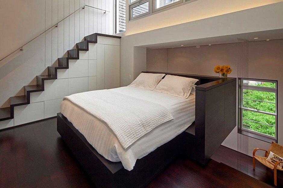 Фотография: Спальня в стиле Современный, Квартира, Дома и квартиры, Перепланировка – фото на INMYROOM