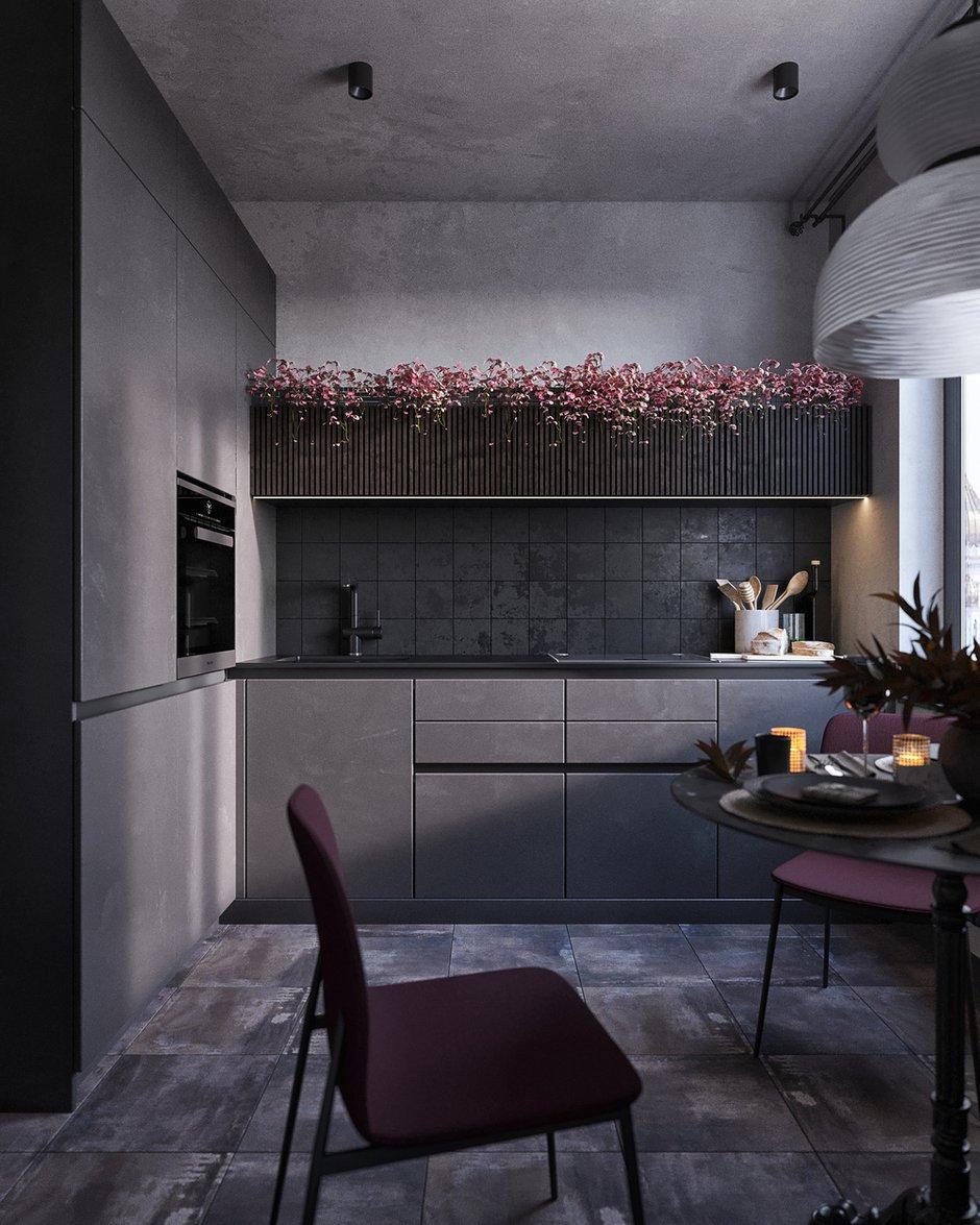 Фотография: Кухня и столовая в стиле Лофт, Эклектика, Квартира, Проект недели, Челябинск, 1 комната, до 40 метров, 40-60 метров, Tenso Interiors – фото на INMYROOM