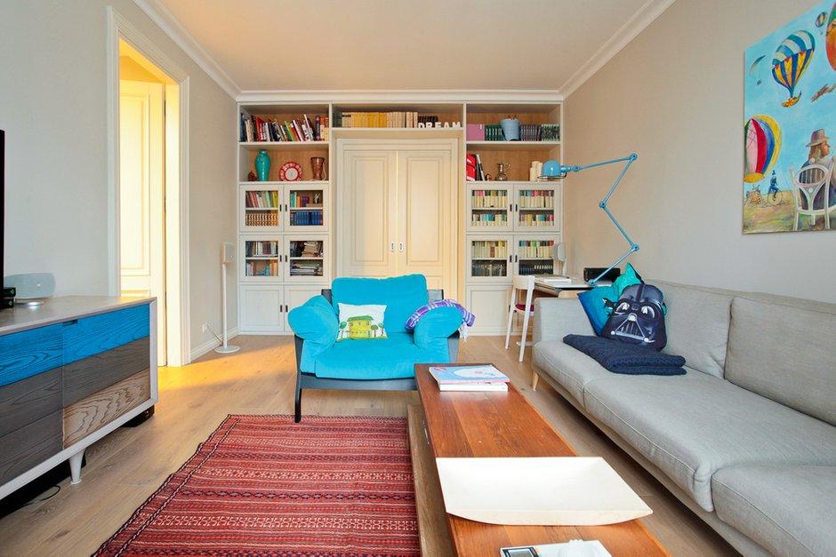 Фотография: Гостиная в стиле Лофт, Скандинавский, Современный, Квартира, Проект недели – фото на INMYROOM