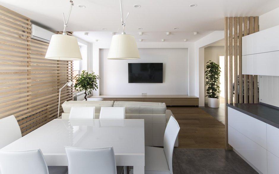 Фотография: Кухня и столовая в стиле Лофт, Квартира, BoConcept, Дома и квартиры, Белый, IKEA, Проект недели, Мансарда – фото на InMyRoom.ru