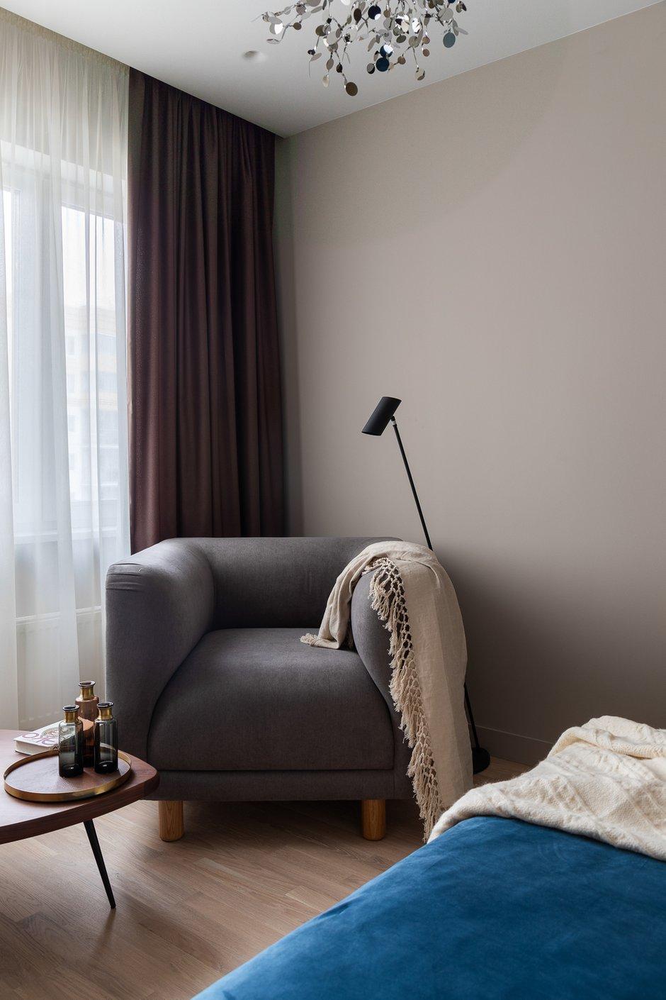 Фотография: Спальня в стиле Минимализм, Современный, Квартира, Проект недели, Санкт-Петербург, 2 комнаты, 40-60 метров, ARCA design – фото на INMYROOM