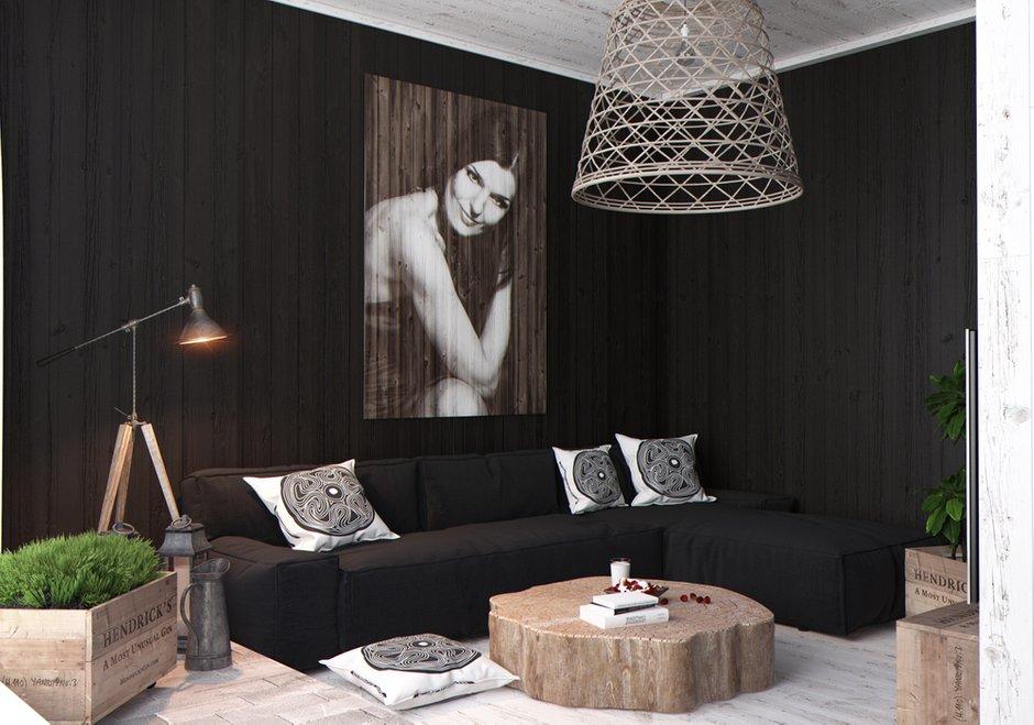 Фотография: Гостиная в стиле Современный, Квартира, Дома и квартиры, Перепланировка, Переделка – фото на INMYROOM