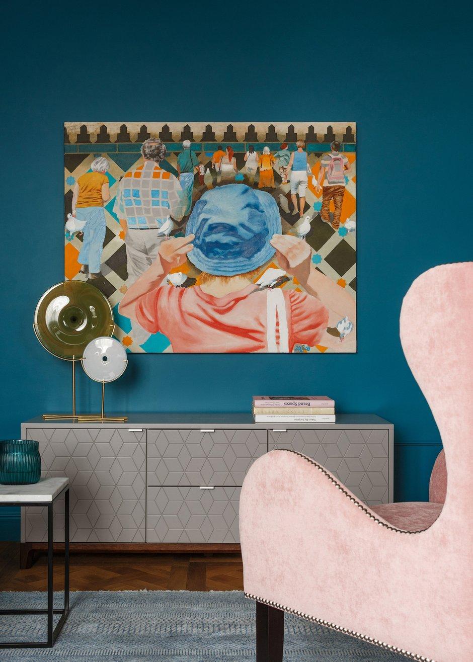 Фотография: Гостиная в стиле Эклектика, Квартира, Проект недели, Москва, Надя Зотова, 4 и больше, Более 90 метров, студия Enjoy Home, Никита Теплицкий – фото на INMYROOM