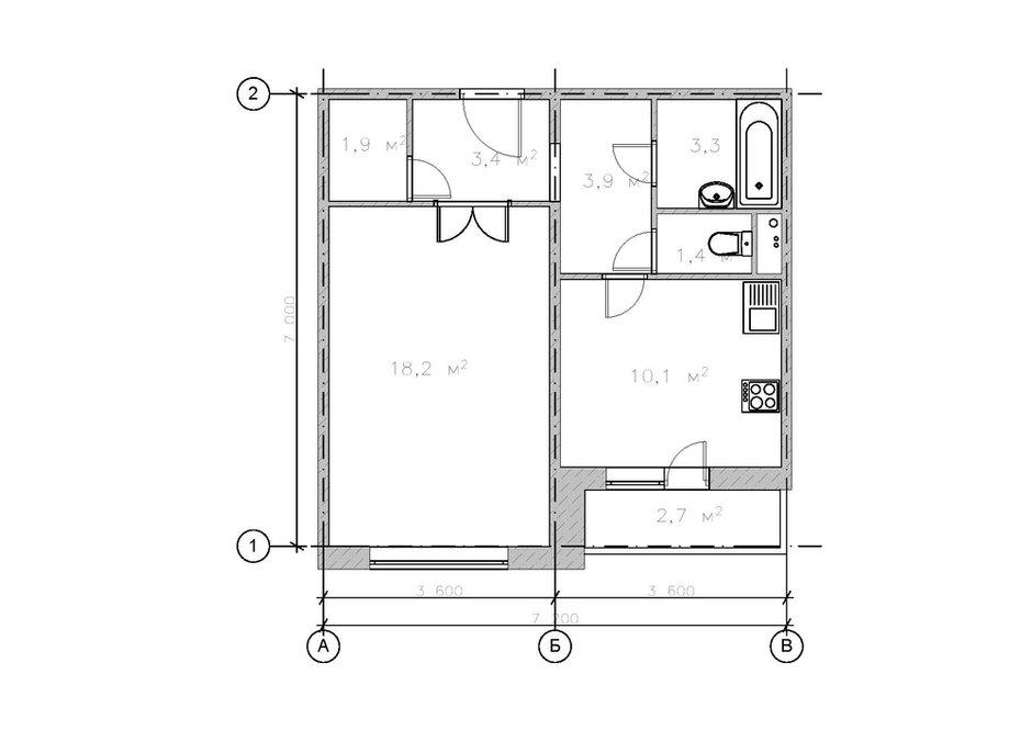 Фотография: Планировки в стиле , Лофт, Проект недели, П-3М, GM-Interior – фото на INMYROOM