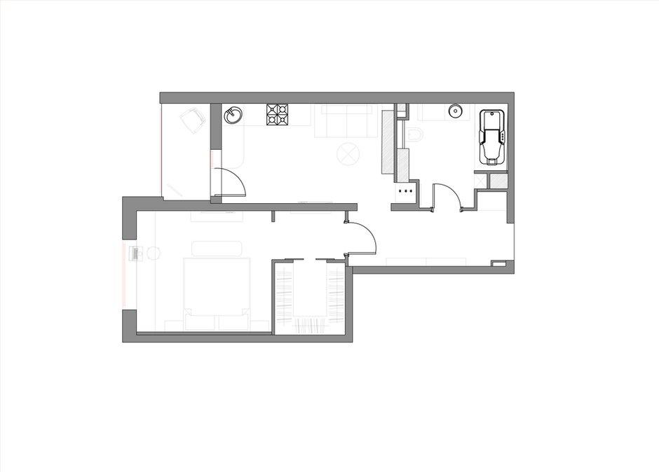 Фотография: Планировки в стиле , Квартира, BoConcept, Цвет в интерьере, Дома и квартиры, Белый, IKEA, Проект недели, Cosmorelax – фото на INMYROOM