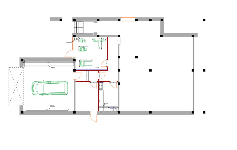 План с расстановкой мебели, 1 этаж