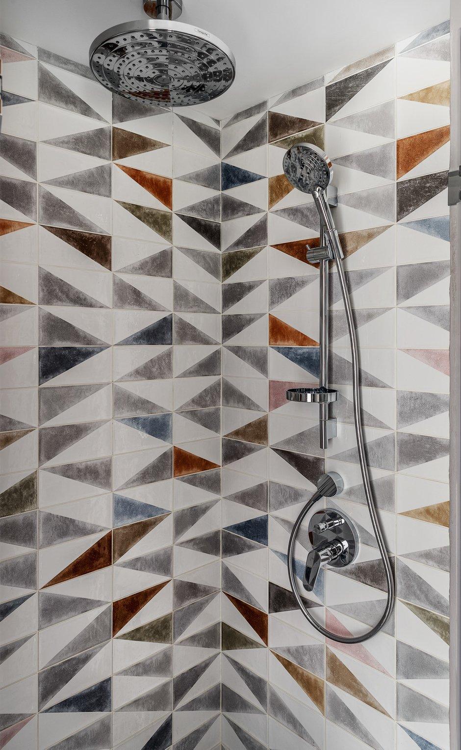 Фотография: Ванная в стиле Современный, Скандинавский, Малогабаритная квартира, Квартира, Проект недели, Москва, Павел Герасимов, Geometrium, Монолитный дом, 1 комната, до 40 метров – фото на INMYROOM