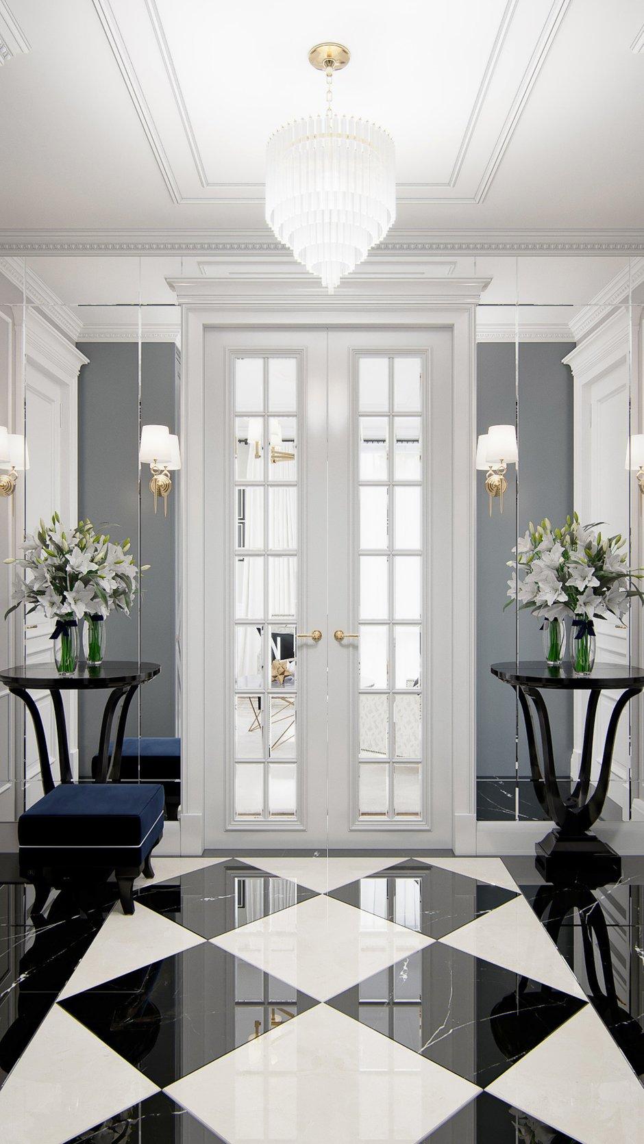 Фотография: Прихожая в стиле Классический, Современный, Квартира, Москва, Монолитный дом, 3 комнаты, Более 90 метров, #эксклюзивныепроекты, True interior – фото на INMYROOM
