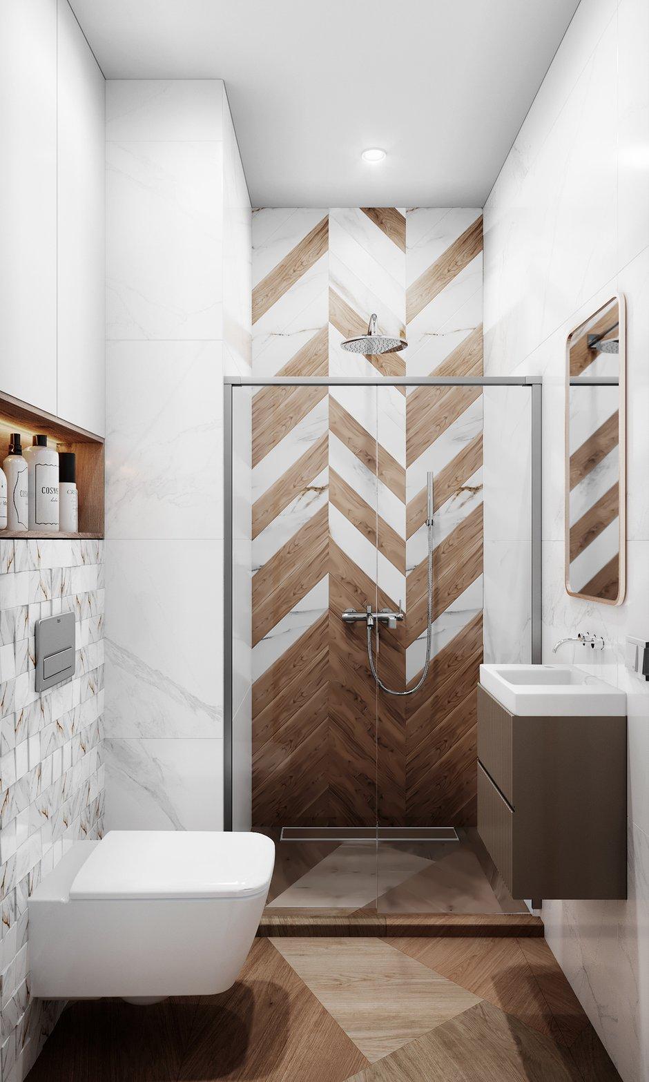 Фотография: Ванная в стиле Современный, Квартира, Проект недели, 3 комнаты, Более 90 метров, Люберцы, Александра Гартке – фото на INMYROOM