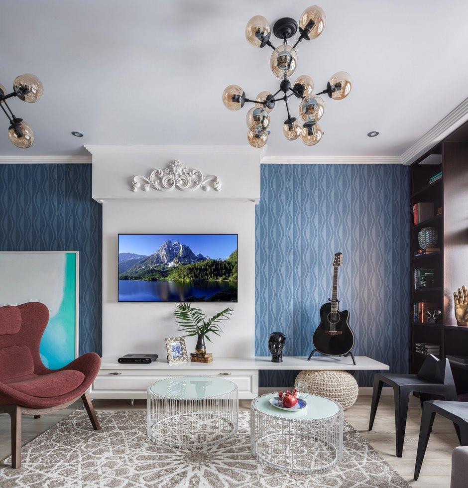 Фотография: Гостиная в стиле Современный, Квартира, Проект недели, Монолитный дом, 3 комнаты, 60-90 метров, Саратов, Quadrum Studio – фото на INMYROOM