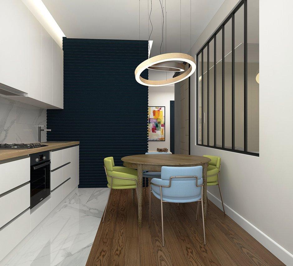 Фотография:  в стиле , Современный, Квартира, Проект недели, Москва, Виктория Золина, Zi-Design Interiors, Кирпичный дом, 1 комната, 40-60 метров – фото на INMYROOM