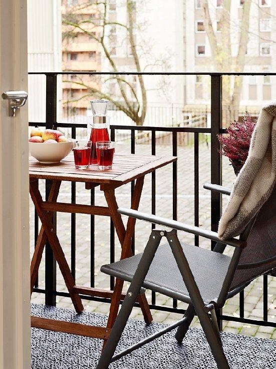 Фотография: Балкон, Терраса в стиле Современный, Малогабаритная квартира, Квартира, Швеция, Дома и квартиры – фото на INMYROOM
