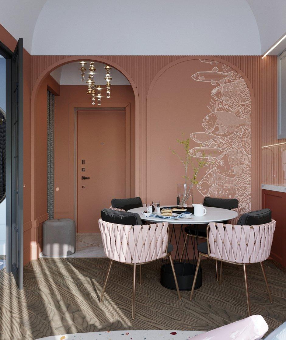 Фотография: Кухня и столовая в стиле Современный, Малогабаритная квартира, Квартира, Проект недели, Санкт-Петербург, Сталинка, 1 комната, до 40 метров, АРИНА ТРОИЛОВА – фото на INMYROOM