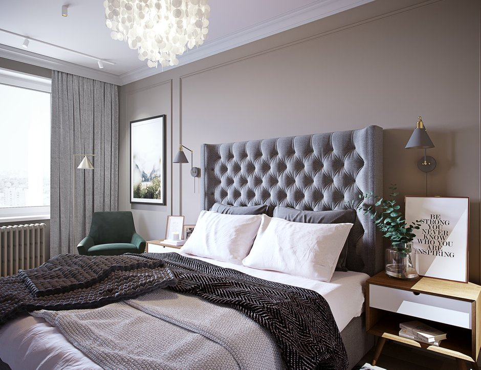 Фотография: Спальня в стиле Современный, Квартира, Проект недели, Москва, 4 и больше, Более 90 метров, Little Space – фото на INMYROOM