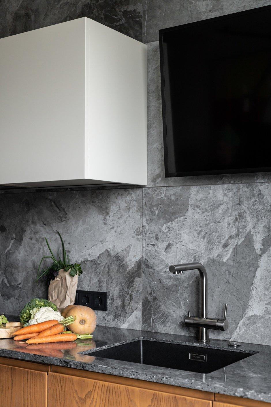 Фотография: Кухня и столовая в стиле Современный, Скандинавский, Квартира, Проект недели, Санкт-Петербург, 1 комната, 40-60 метров, Архитектура Интерьера – фото на INMYROOM