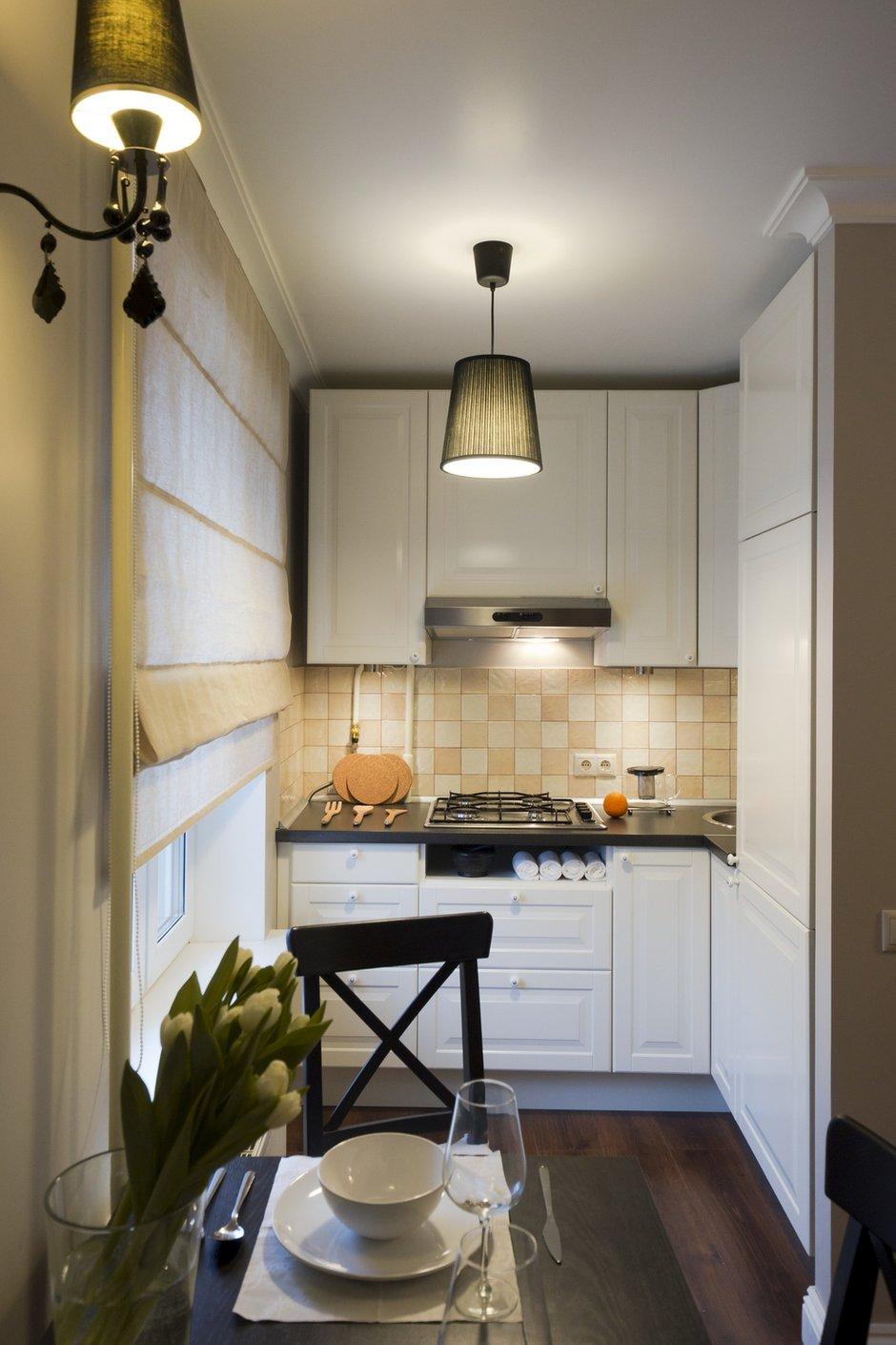 Фотография: Кухня и столовая в стиле Прованс и Кантри, Современный, Малогабаритная квартира, Квартира, Дома и квартиры – фото на INMYROOM