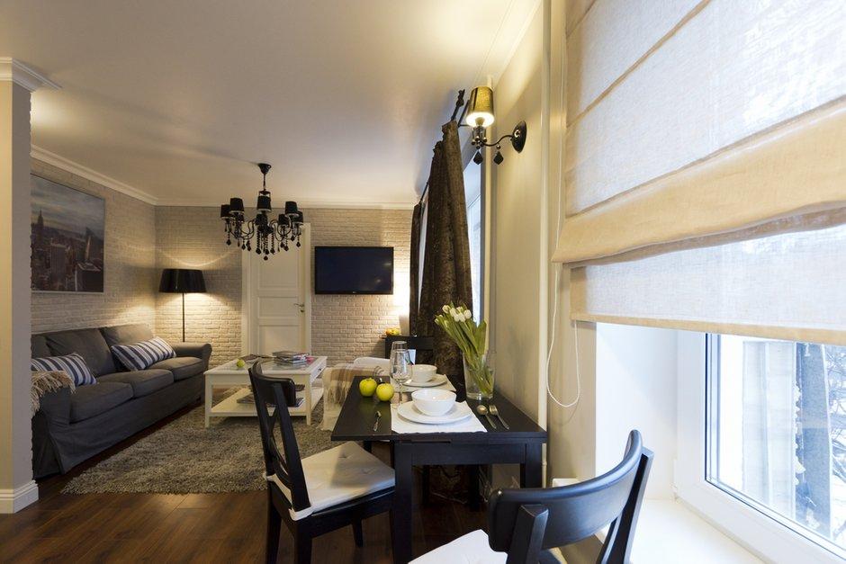 Фотография: Гостиная в стиле Эклектика, Современный, Малогабаритная квартира, Квартира, Дома и квартиры – фото на INMYROOM