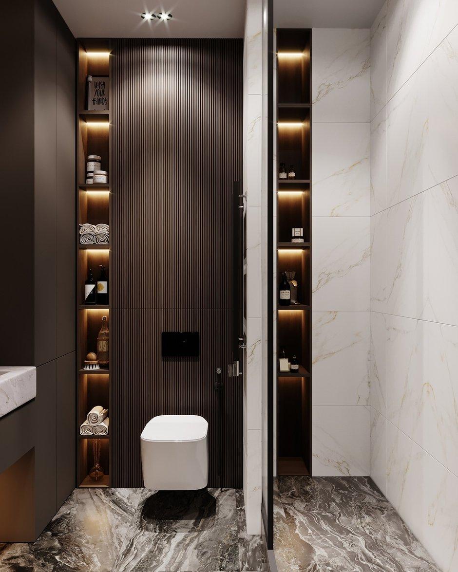 Фотография: Ванная в стиле Современный, Квартира, Проект недели, Москва, Монолитный дом, 2 комнаты, 40-60 метров, Руслан Просвирин – фото на INMYROOM
