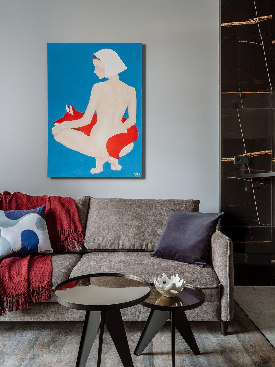 Фотография: Гостиная в стиле Современный, Квартира, Проект недели, 3 комнаты, 60-90 метров – фото на INMYROOM