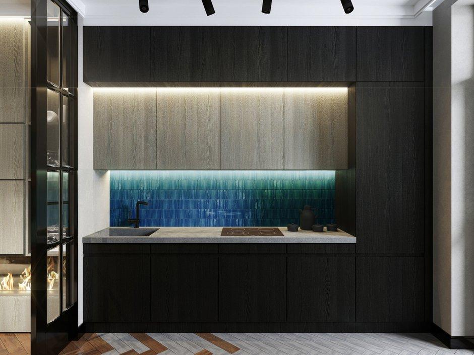 Фотография: Кухня и столовая в стиле Лофт, Современный, Квартира, Проект недели, Монолитный дом, 2 комнаты, 40-60 метров, ЖК «Маяк» – фото на INMYROOM