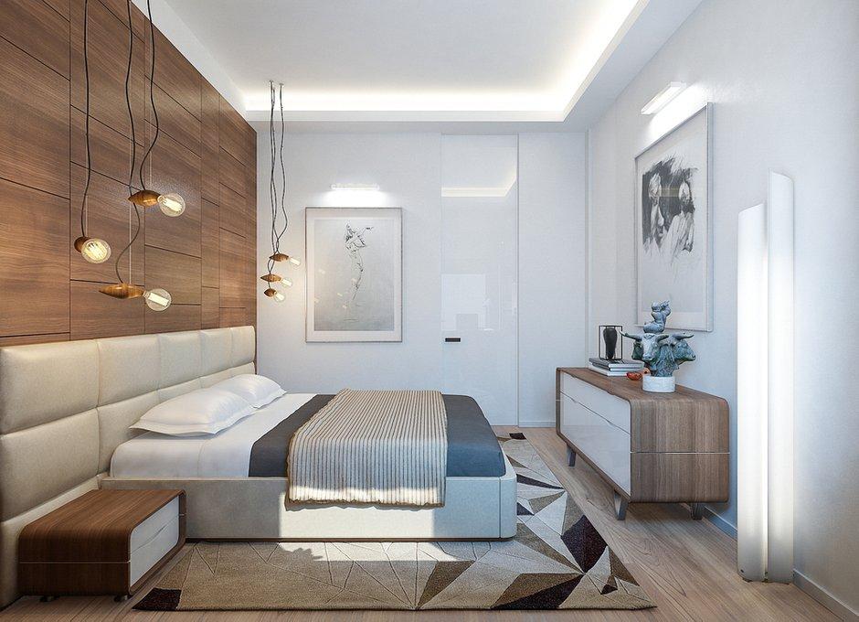Фотография: Спальня в стиле Современный, Минимализм, Квартира, Проект недели, Москва, Монолитный дом, 3 комнаты, Более 90 метров, Lofting – фото на INMYROOM