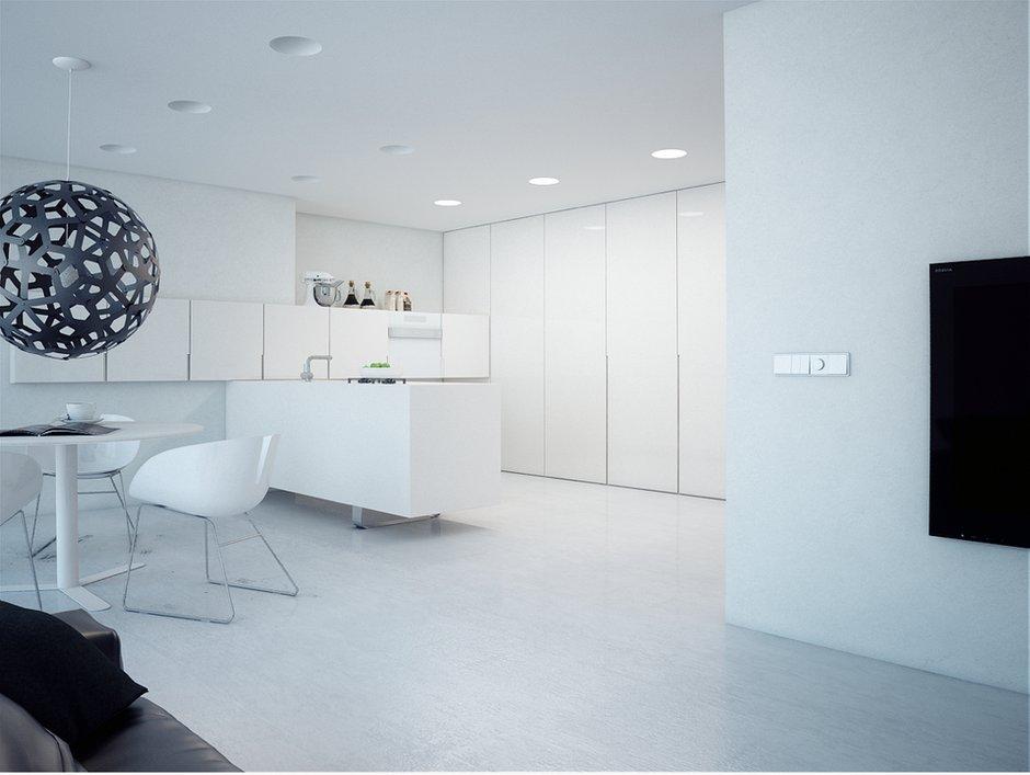 Фотография: Кухня и столовая в стиле Хай-тек, Декор интерьера, Квартира, Декор, Советы, Минимализм, минимализм в интерьере, как оформить интерьер в стиле минимализм, минималистский интерьер, стиль в интерьере – фото на INMYROOM