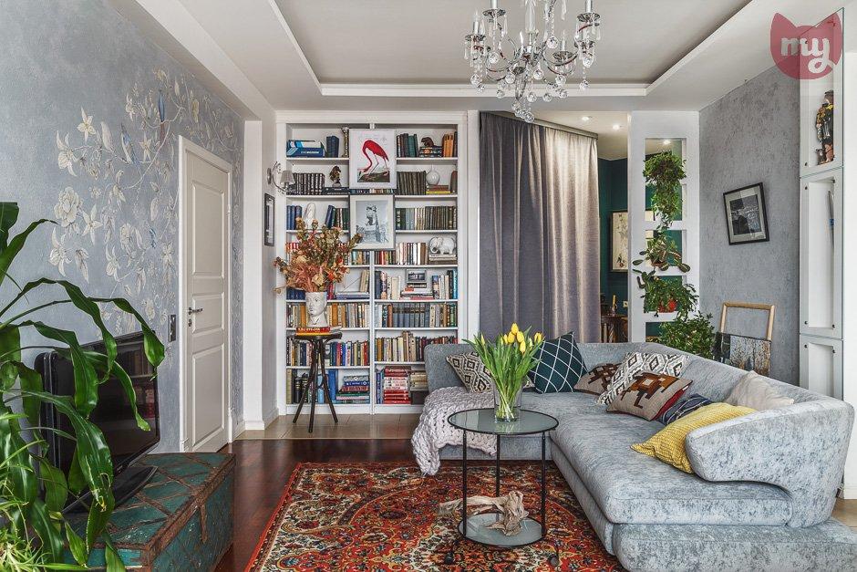 Фотография:  в стиле , Квартира, Проект недели, Москва, Герой InMyRoom, Оксана Пантелеева, Монолитный дом, 2 комнаты, 60-90 метров – фото на INMYROOM
