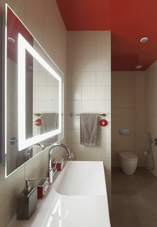 Фотография: Ванная в стиле Современный, Квартира, Проект недели, Москва, Ирина Крашенинникова, 3 комнаты, Более 90 метров, Монолитно-кирпичный – фото на INMYROOM