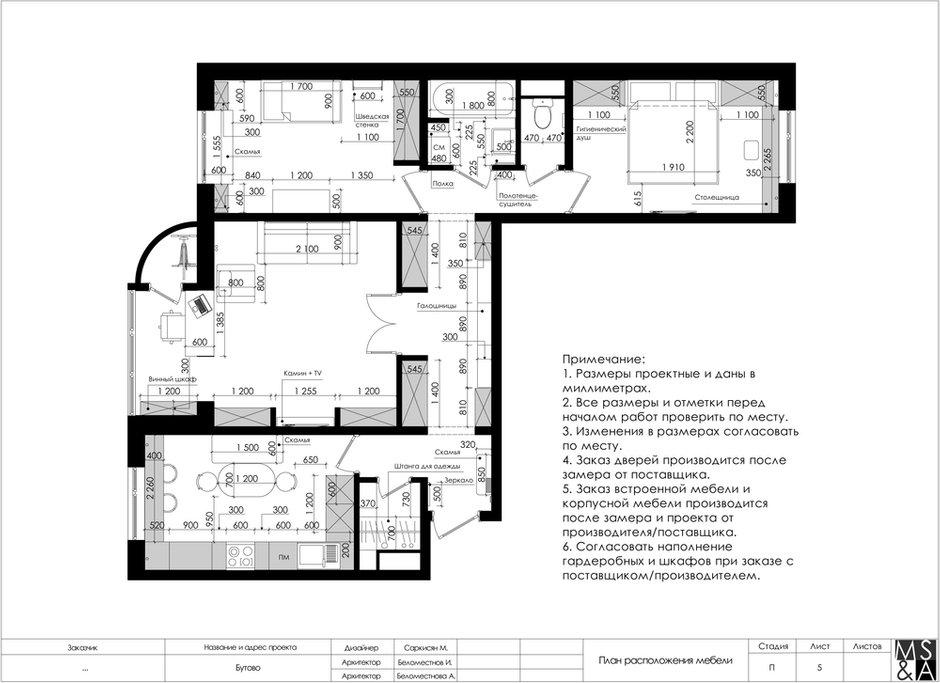 Фотография: Планировки в стиле , Квартира, Проект недели, Марина Саркисян, Московская область, 3 комнаты, 60-90 метров, Монолитно-кирпичный – фото на INMYROOM