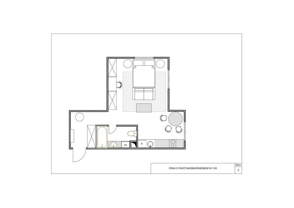Фотография: Планировки в стиле , Лофт, Малогабаритная квартира, Квартира, Студия, Проект недели, Красногорск, до 40 метров, Элина Богомолова – фото на INMYROOM