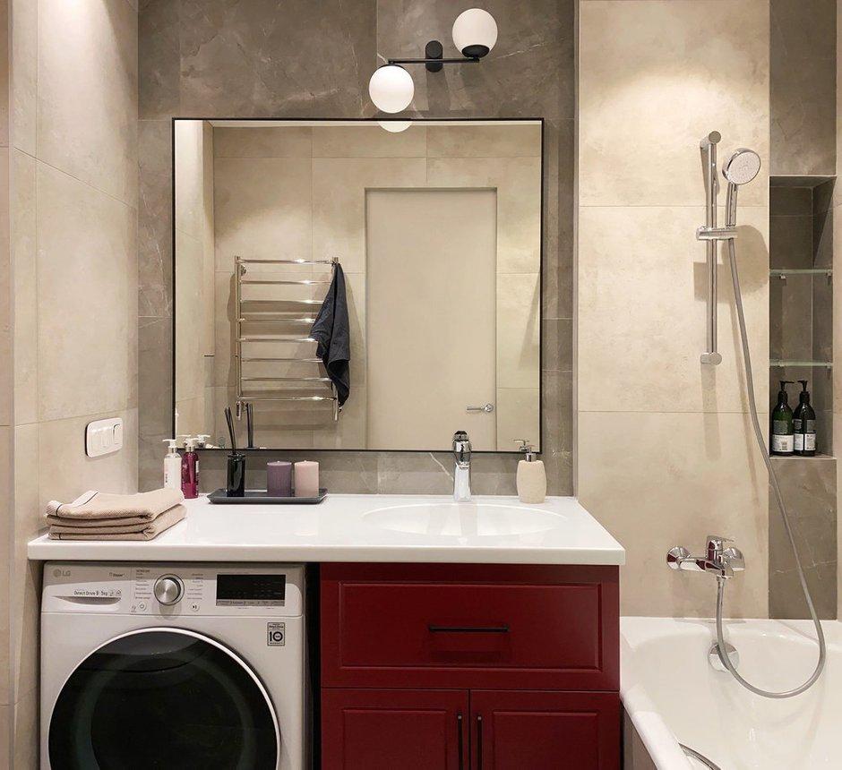 Фотография: Ванная в стиле Современный, Квартира, Проект недели, Красногорск, 2 комнаты, 40-60 метров, One Line Design – фото на INMYROOM