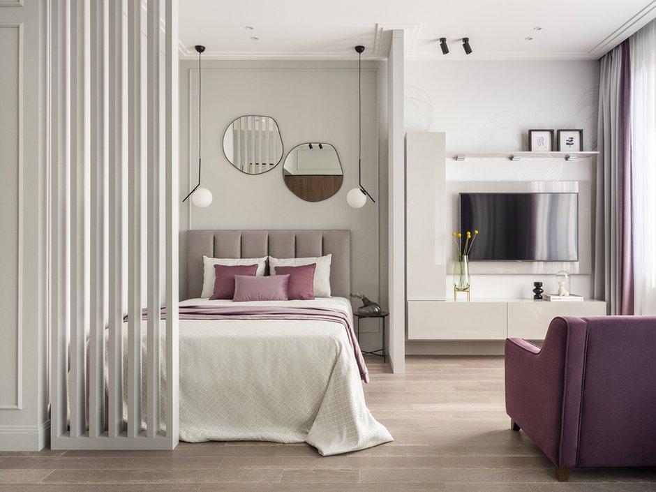 Фотография: Спальня в стиле Современный, Квартира, Студия, Проект недели, Москва, 40-60 метров, D.A. Interior Design – фото на INMYROOM