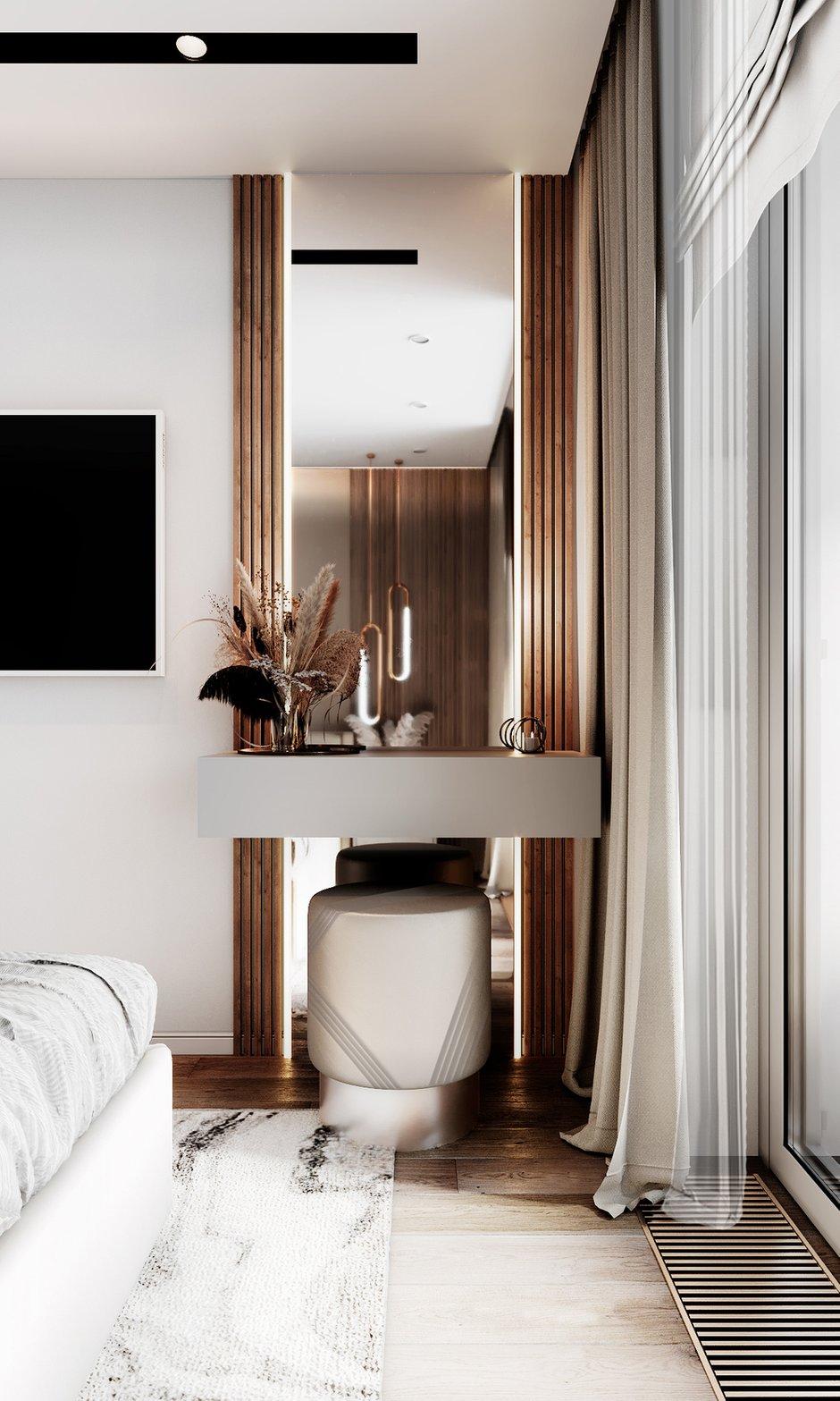 Фотография: Спальня в стиле Современный, Квартира, Проект недели, 3 комнаты, Более 90 метров, Люберцы, Александра Гартке – фото на INMYROOM