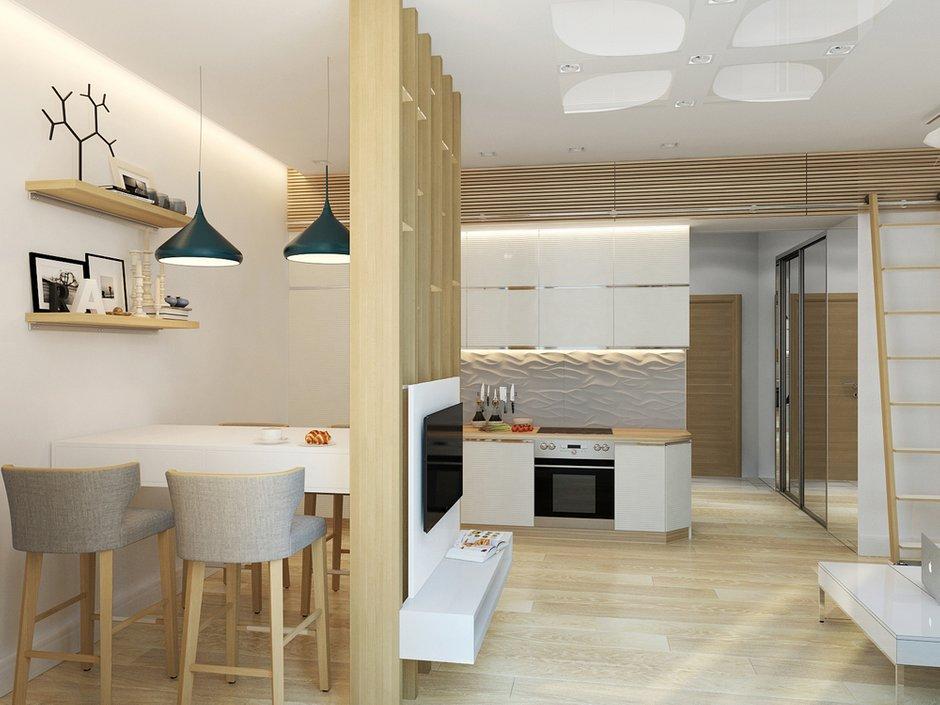 Фотография: Кухня и столовая в стиле Лофт, Современный, Малогабаритная квартира, Квартира, Хранение, Мебель и свет, Дома и квартиры, Проект недели – фото на INMYROOM